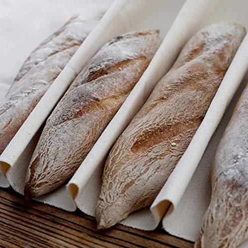 Bekith Pane da Panettiere Pane Telo Cuscino Pasta Grande Resistenteper Cuocere Pagnotte di Baguette di Pane Francese, 90 x 60 cm