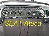 ERGOTECH Rejilla Separador protección para Seat Ateca, RDA65-S8, para Perros y Maletas