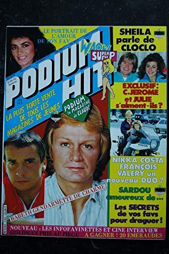 PODIUM HIT 124 JUIN 1982 SHEILA FARRAH FAWCETT JEAN-JACQUES GOLDMAN POSTERS FRANCE GALL ABBA CLAUDE FRANCOIS