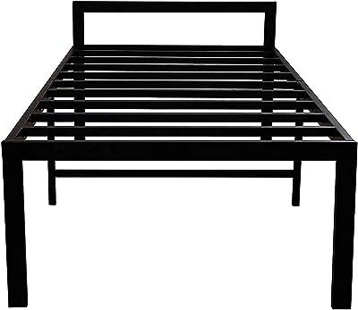 SHAH Furniture Foldable Bed Frame, Matte Black, Single Cot Steel Bed