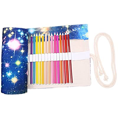 Coideal 36 Slots Canvas Pencil Wrap Roll Up Cas...