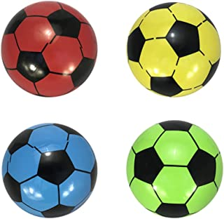 Yimosecoxiang PVC Thicken Inflatable Soccer Ball Football Soft Outdoor Indoor Kids Fun Play Game Gift Match Light Weight Children Soccer Team Toys Classic Random Color