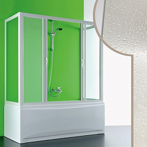 Cabine douche 3 côtés Pare-Baignoire 90x220x90 CM en acrylique mod. Plutone 2 avec ouverture cen