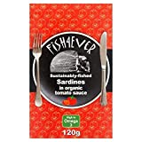 Fish 4 Ever Whole Sardines in Organic Tomato Sauce 120g -
