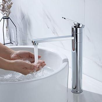 Robinet de lavabo en laiton Mitigeur d/évier en laiton Lavabo-vasque en laiton