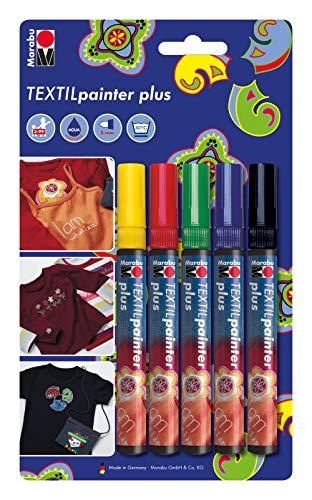 Marabu Textilmarker Textil Painter Plus, 5er Blister