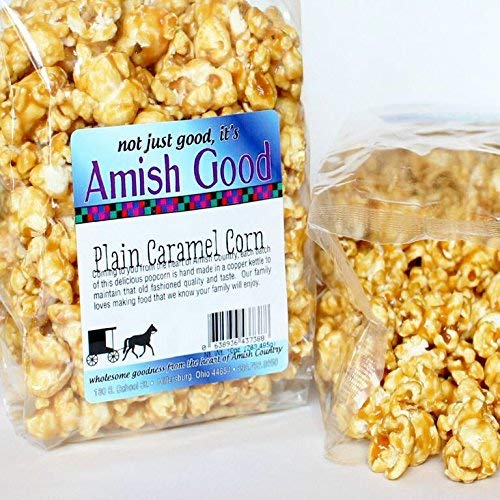 Lowest Price! Amish Good Premium Caramel Popcorn Real Butter and Coconut Oil * 2 Pack has Two 10 Oun...