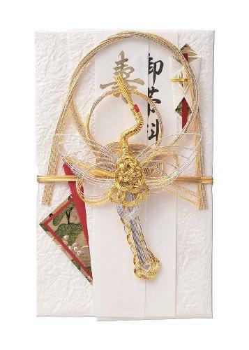 マルアイ 祝儀袋 結婚式 デザイン 和風 結納 金封 鶴 1枚 キ-650