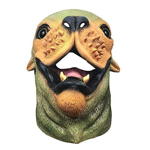 POOO Mscara Linda del arns del Animal del Perro de mar, Sombrero del len Marino Divertido para la Fiesta de la Mascarada, Accesorios del Funcionamiento de la Fiesta de Halloween