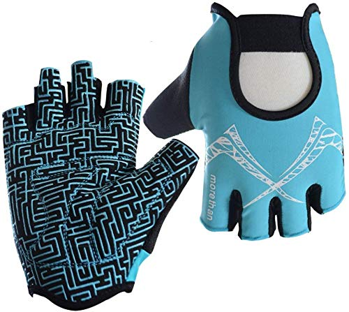 Fitness Handschoenen Anti-slip Fietshandschoenen Verstelbare Vingerloze Handschoenen Mountainbike Handschoenen Siliconen Mitten Ademende Rijhandschoenen Professionele Gym Handschoenen voor Fitness Dumbbell Running Riding