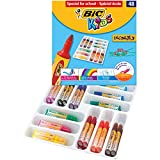 BIC Kids Decarolo Assorted Large Felt Tip Coulouring Pens (48 Pieces)