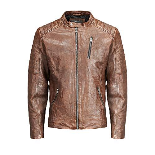 Jack & Jones Jjvrichard Lamb Leather Jacket Noos Chaqueta para Hombre