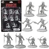 Monster Protectors DND Miniaturas - Kobold Mini figuras - 1 cm de tamaño hexagonal para mazmorras y dragones D&D, Pathfinder y todos los juegos de mesa RPG (8 unidades)