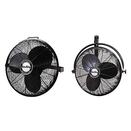 Air King 9318 Industrial Grade High Velocity Multi Mount Fan, 18-Inch,Black & 9020 1/6 HP Industrial Grade Wall Mount Fan, 20-Inch,Black