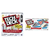 TECH DECK, Sk8 Factory DLX 14 Pack Fingerboards, Golden Era 90's Edition Bundle, Ultimate Street Spots Pack with 3 Fully Assembled Exclusive Boards, Coast to Coast Edition