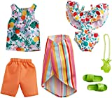 Barbie Fashion Pack - Tropical with 1 Outfit & 1 Accessory Doll & 1 Each for Ken Doll, Gift for 3 to 8 Year Olds