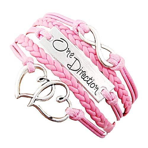 Vrouwelijke armband - vrouw - hart - armband - muziek - klein hart - gevlochten - multi-draad - oneindig - origineel cadeau-idee