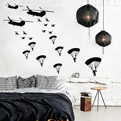 Cool Army Troops Wall Sticker Solider Stickers Vinyl Home Boys Kids Bedroom Soldiers Wall Art Decal for Living Room Home Decor