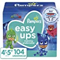 Pampers Easy Ups Pull On Disposable Potty Training Underwear for Boys and Girls, Size 6 (4T-5T), 104 Count (Packaging May Vary)