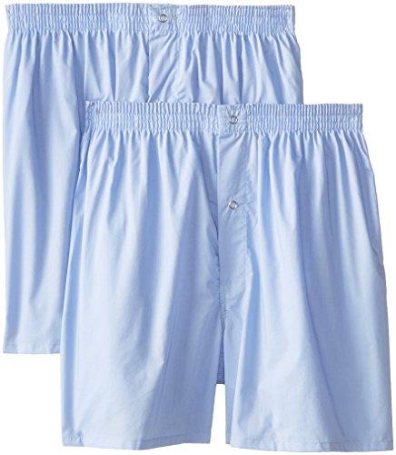 Munsingwear Men's 2-Pack Gripper Woven Boxer, Light Blue, Small