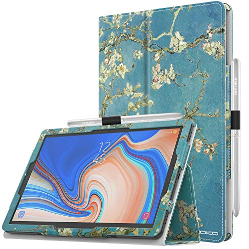 MoKo Case for Samsung Galaxy Tab S4 10.5 - Premium Slim Folding Stand Cover Case with Auto Wake & Sleep for Samsung Galaxy Tab S4 10.5 Inch (SM-T830 and SM-T835) Tablet, Almond Blossom