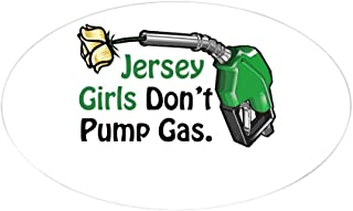 CafePress Jersey Girls Don't Pump Gas Oval Sticker Oval Bumper Sticker, Euro Oval Car Decal