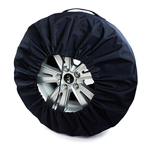 Premium Housses de Roue de Secours Noire pour Auto 14-17\
