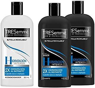 Tresemme - Paquete de Hidratación Intensiva - Champú (855 ml) y Suavizante (855 ml)