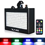 Strobe Light, JLPOW Ultra Bright RGB LED Strobe lights (Metal Case), Sound Activated and Remote Control, Speed Adjustable Mini Flash Stage Lighting, Best for DJ Christmas Party Bar Show Disco Dance