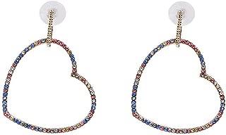 Vintage Heart Stud Earrings,Personality Simple Stud Earring Girls Accessories Best Jewelry Gift