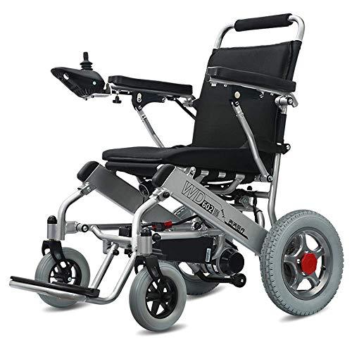 MJY Silla de ruedas eléctrica Hogar Ancianos Inteligente Automático Plegable Ligero Pequeño Eléctrico Silla de ruedas portátil fdh