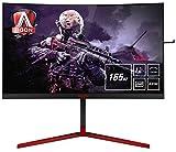 AOC AGON AG273QCG 68 cm (27 Zoll) Curved Monitor (HDMI, DisplayPort, USB Hub, GSync, 1ms Reaktionszeit, 2560 x 1440, 165Hz) schwarz/rot