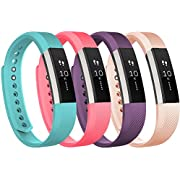Tobfit For Fitbit Alta Bands and Fitbit Alta HR Bands (4 PACK), Newest Replacement Accessories Wristbands with Metal Buckle