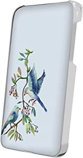 スマQ Galaxy S5 SC-04F / SCL23 ワンポイント鳥 スマホケース ハードケース SAMSUNG サムスン ギャラクシー エスファイブ docomo au ami_(D.ブルー)