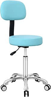 Drafting Stool Rolling Task Chair,Stool Chair for Shop Office Spa Dental Kitchen Medical Hairdresser with Wheels (Light Green)