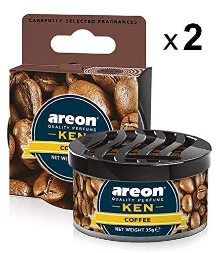 AREON Ken Ambientador Coche Café Aire Olor Lata Debajo