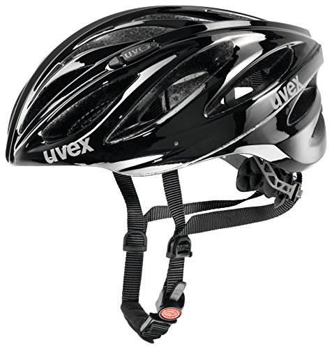 Uvex Boss Race Casco de Ciclismo, Unisex Adulto, Black, 55-60 cm