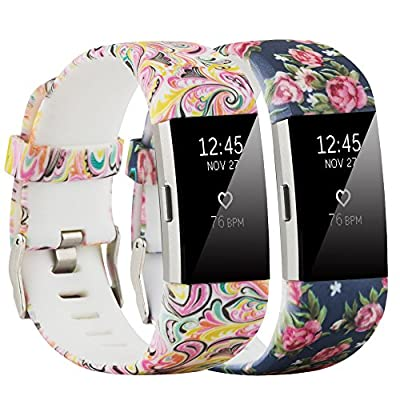 Molitec Compatible Fitbit Charge 2 Bands Replacement Bands Adjustable Accessory Wristbands for Fitbit Charge 2 Large Small Women Men Patterns