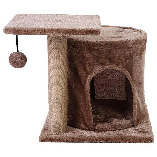 Cat klimrek, Cat Scratch Tree, Krabpaal voor katten, Cat klimpaal, Kat ladder, Cat Scratching Jumping Climbing Post Ladder Stable Framework Cat Toy (Bruin)