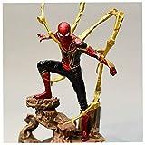 ZQBY7AA Miracle Avengers/Iron Spider-Man 28 CM Modelo de Personaje de Anime Figura de acción Iron Sp...