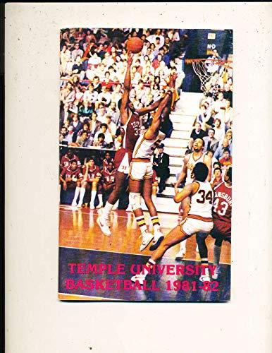 1981 Temple Basketball Media Guide bkbx23