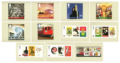 Londen ondergrondse postzegelkaarten