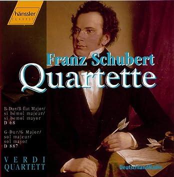 Schubert: String Quartet No. 15 in G Major, D. 887 / String Quartet No. 5 in B-Flat Major, D. 68
