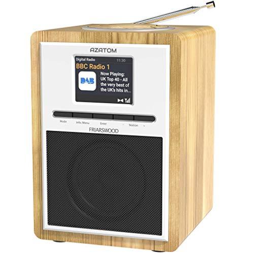 AZATOM Friarswood DAB+/DAB/Digital FM Radio/Bluetooth Wireless/Colour...