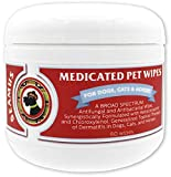 Seamus Medicated Pet Wipe - Chloroxylenol and Ketoconazole – Anti-fungal & Anti-Microbial - A Water-Based pad That Does not Sting Burn or Cause Skin Irritation for Dogs, and Horses