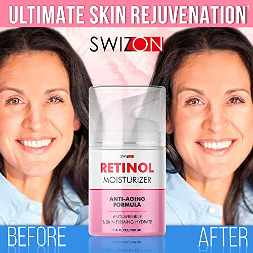 51fwWmOGhDL - Anti-Wrinkle Retinol Cream for Face - Firming and Lifting Effect - Anti-Aging Face Moisturizer for Women and Men - Day and Night Neck, Double Chin, and Face Cream with Hyaluronic Acid - Made in Usa