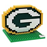 Green Bay Packers NFL Football Team 3D BRXLZ LOGO Puzzle -