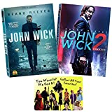 The Keanu Reeves Enthusiast Collection: John Wick - Complete Movie Series 1-2 DVD + Bonus Art Card