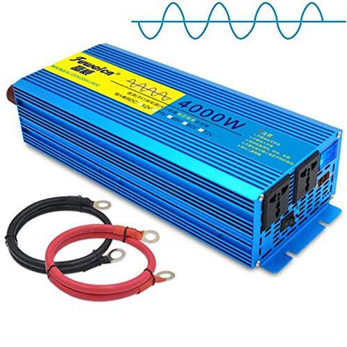 WBJLG 3000W 4000W 5000W 6000W 7000W 8000W Pure Sine Wave Power Inverter DC 12V/24V to AC 230V 240V Car Charger Converter Pure Sine Wave Power Inverter with Universal Socket and USB Ports,12V-8000W