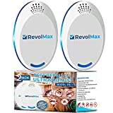 RX-1, 2Pack, Ultrasonic Pest Repeller Wall Plug-in, Most Effective Than Repellents - Get Rid of - Rodents, Squirrels, Mice, Rats, Bats, Roaches, Ants, Spiders, Bed Bugs, Мosquito, Insects, Fleas!